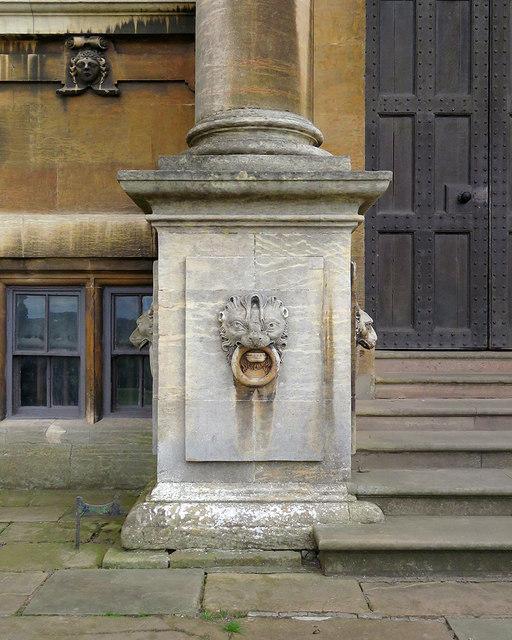 Wollaton Hall: column base