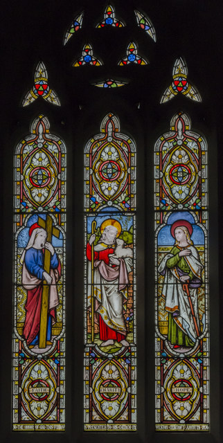Stained glass window, St Martin's church, Stubton