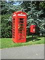 TL7041 : Elizabeth II postbox and telephone box on The Street, Birdbrook by JThomas