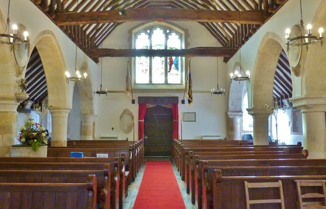 The western end of the nave, St. Peter's church, North Hayling