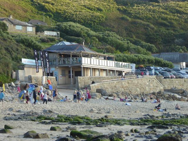 The Beach restaurant and Sennen Surf School