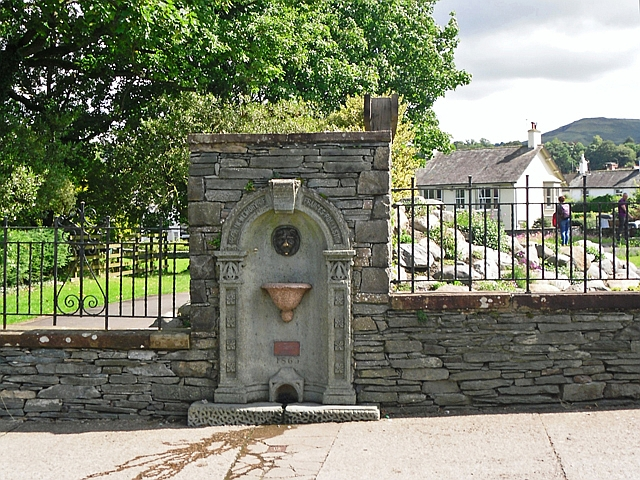 Drinking fountain in memory of Frances Rolleston