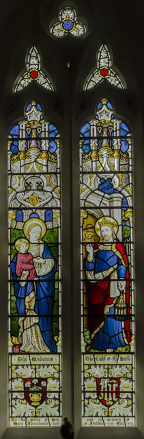 Stained glass window, St Martin's church, Stubton