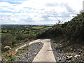 J4976 : Tight bend in the cycling path below the South Engine House by Eric Jones