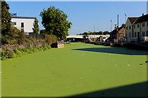 TQ3882 : Limehouse Cut approaching the River Lea by Chris Heaton