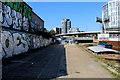 TQ3883 : Heavy Graffiti beside the Lea Navigation by Chris Heaton