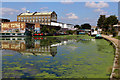 TQ3784 : Lea Navigation beside the Queen Elizabeth Olympic Park by Chris Heaton