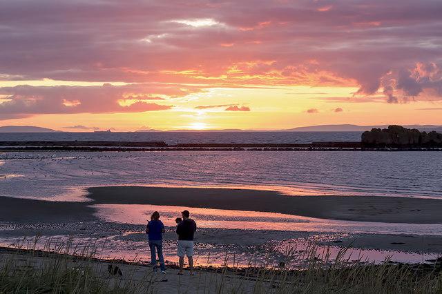 Maidens Beach at sunset