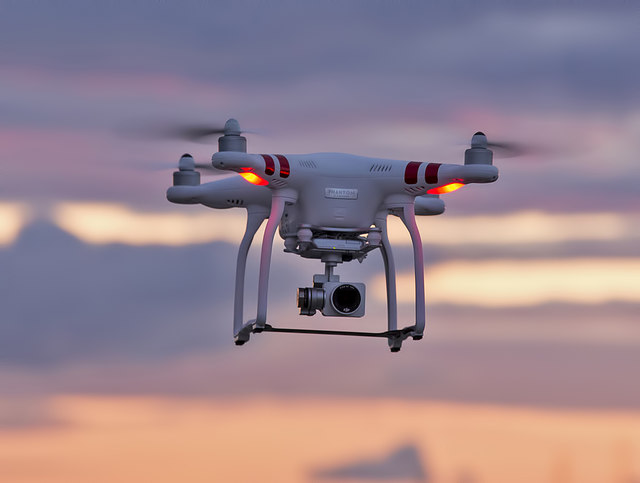 A drone over Maidens Beach
