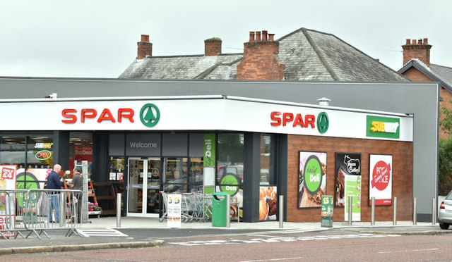 Spar and BP, Holywood Road, Belfast (September 2017)