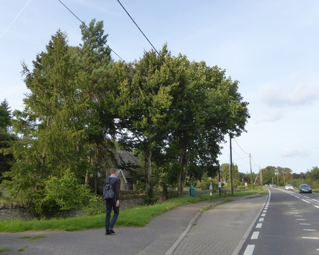 Bus stop on A420 north of Tubney