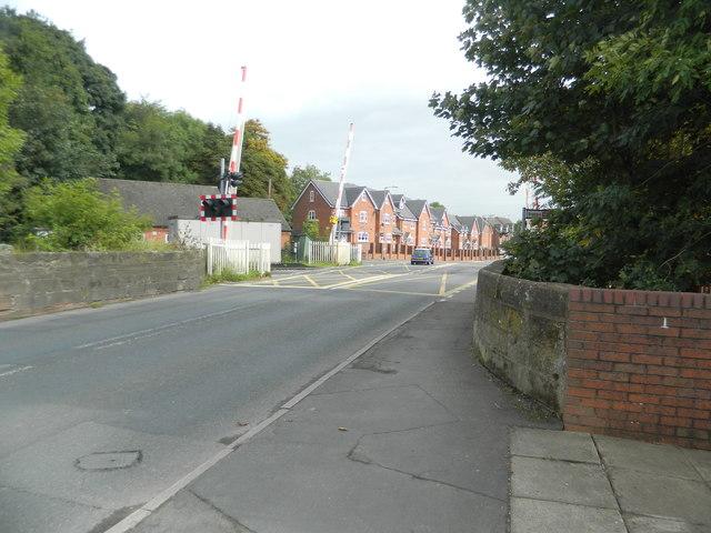 Level crossing, Uttoxeter Rd, Blythe Bridge