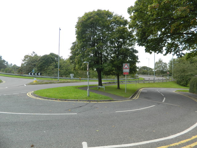 Roundabout where the B5029 crosses the A50