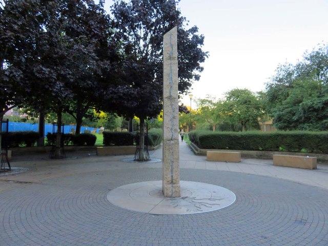 An obelisk on Garratt Lane