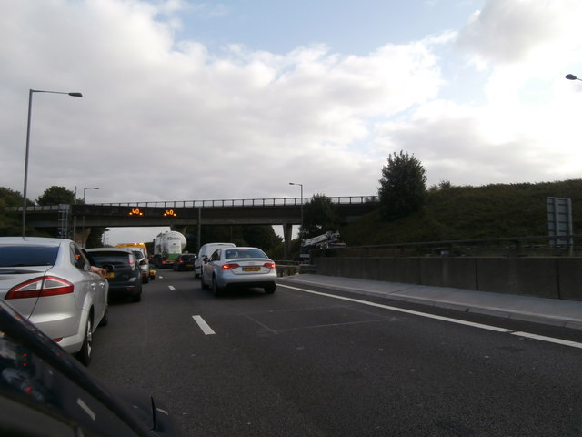Southbound traffic on the M5