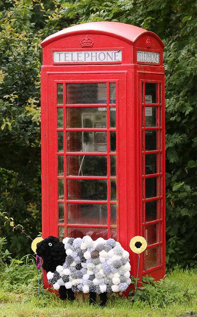 The telephone box at Yarrowford