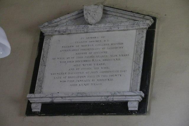 Second Rowden memorial