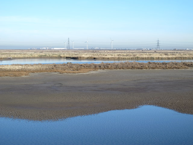 Chetney Marshes north of Chetney Hill
