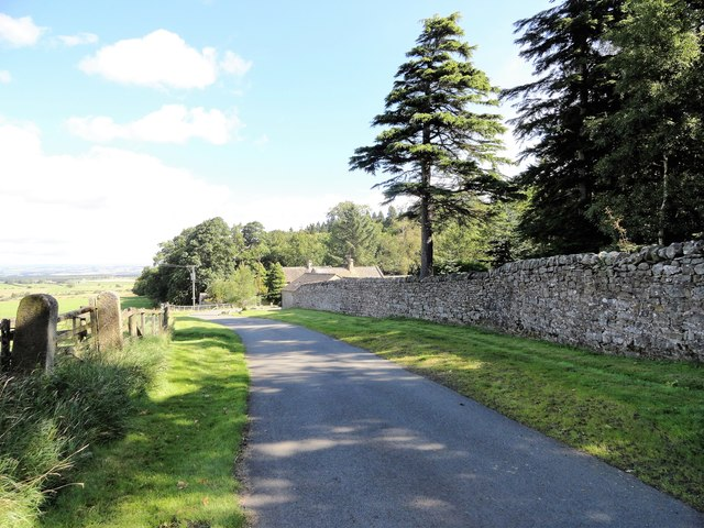 Entrance drive, Minsteracres