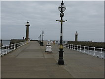 NZ8911 : West Pier, Whitby by G Laird