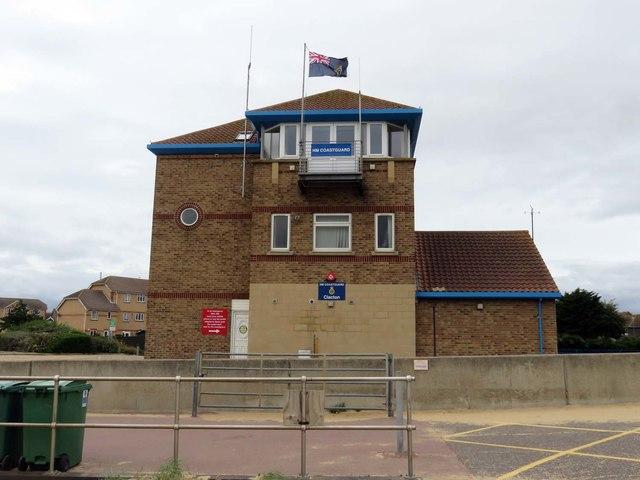 HM Coastguard lookout in Clacton