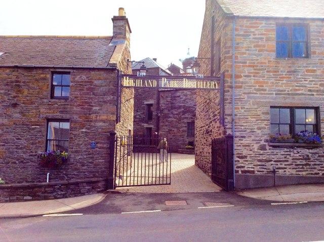 Entrance to Highland Park Whisky Distillery