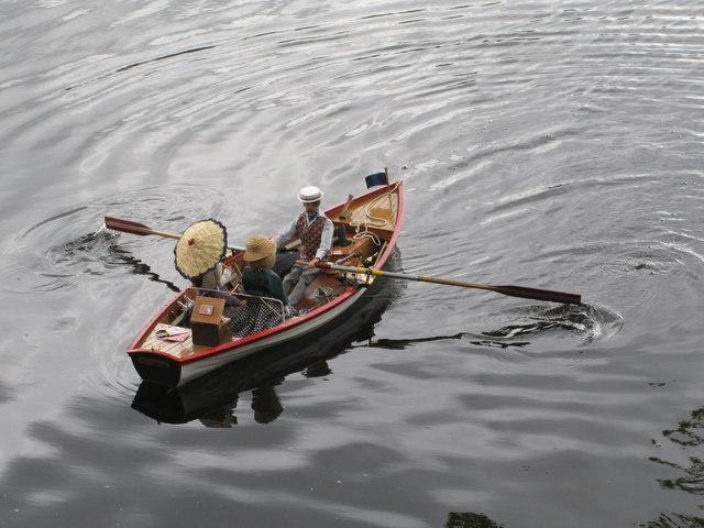Black Park Model Boat regatta - model rowing boat