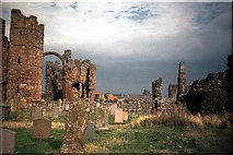 NU1341 : Holy Island Churchyard by norman griffin