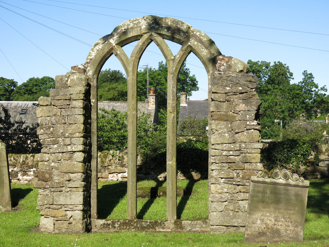 Late 13th C window tracery in the graveyard of the Church of St. Mary