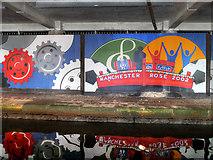 SJ8498 : Manchester 2002 Mural, Rochdale Canal by David Dixon