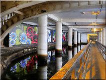 SJ8498 : Rochdale Canal Beneath Piccadilly by David Dixon