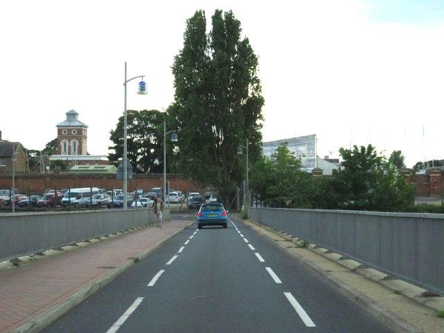 Haslar Road crossing Haslar Bridge