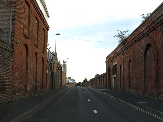 Haslar Road in Gosport