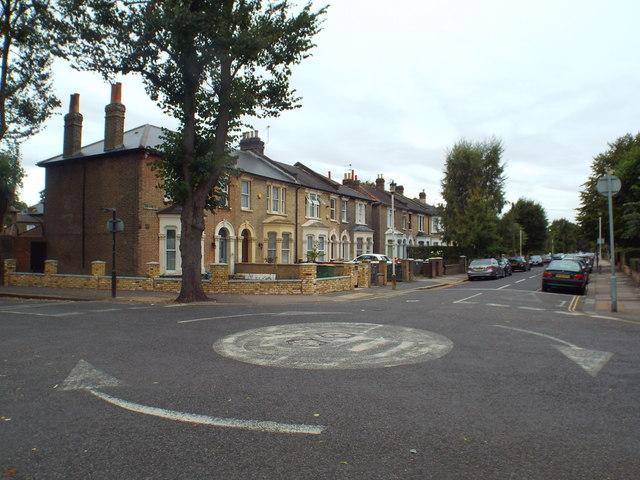 Mini roundabout on Osborne Road, near Forest Gate
