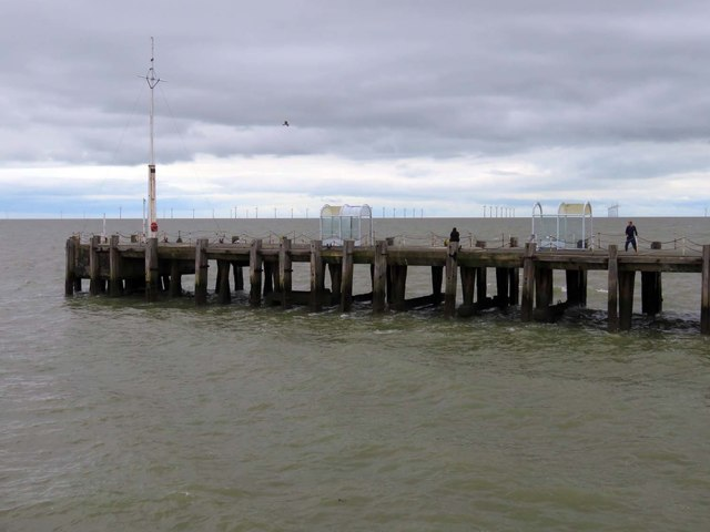 The landing stage on Clacton Pier