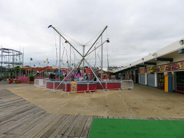 Amusement rides on Clacton Pier
