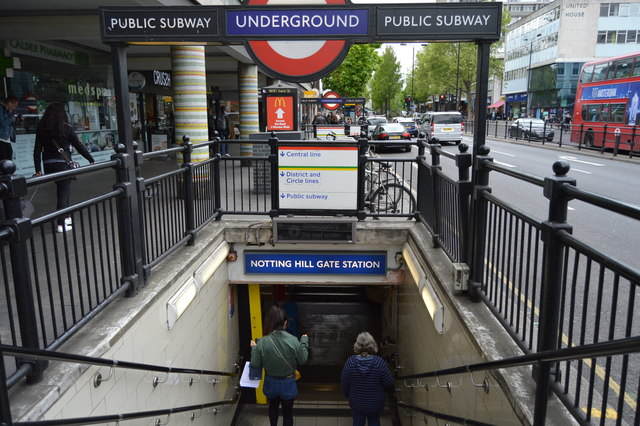 Notting Hill Gate Underground Station