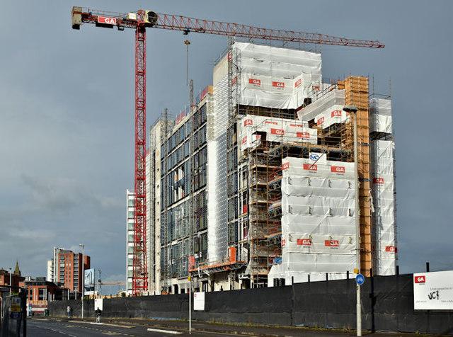 The City Quays hotel site, Belfast -September 2017(2)