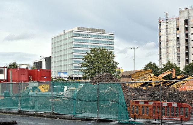 The City Quays car park site, Belfast - September 2017(1)