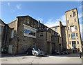 SE2135 : Sunnybank Mills - former weaving sheds by Stephen Craven