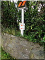 SM9207 : Oil pipeline marker post at the eastern edge of Steynton, Milford Haven by Jaggery