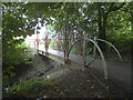 SE5655 : Miniature Forth Bridge, Horns Gutter by Stephen Craven