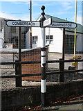 SJ6478 : Fingerpost at Gibb Hill, Cheshire by John S Turner
