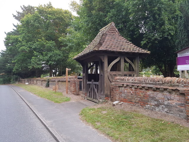 WW1 Memorial Lych Gate outside Worlingham Parish Church