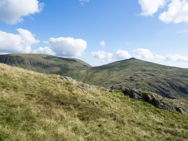 Outcropping rocks at Troutal Fell