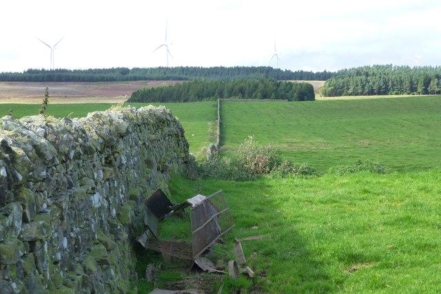 Fine dry stone wall
