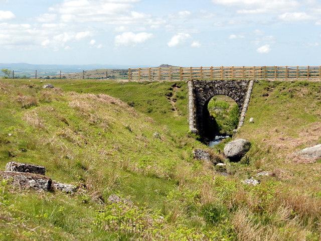 Bridge over Yes Tor Brook