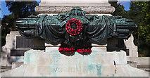 TM1645 : Ipswich World War I and II War Memorial - Closeup (1) by Steven Fosdick