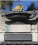 TM1645 : Ipswich World War I and II War Memorial - Lamp by Steven Fosdick
