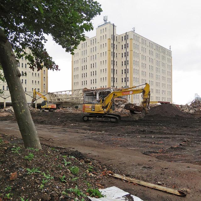 Radford: one block of the Bonded Warehouse gone